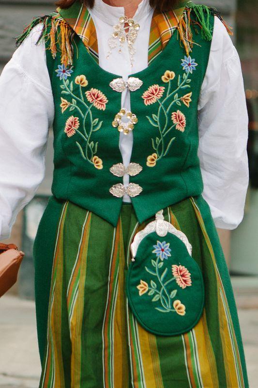 Traditional Norwegian dress - really beautiful!