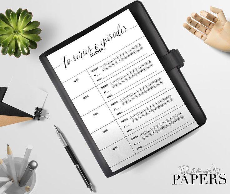 TV series and episodes tracker insert for your Personal and A5 planner  #planner #dividers #filofax #filofaxaddict #kikkiklover  #plannergirls #planneraddict #filofaxaddict #filofaxlove #filofaxing #plannerfilofax #kikkik #dashboard #etsyshop #lifeinplanner #cartopazze #agenda #plannernerd #plannergeek #happyplanner #plannerlife #plannerlust #plannerworld #plannermania #planningcommunity #elenaspapers