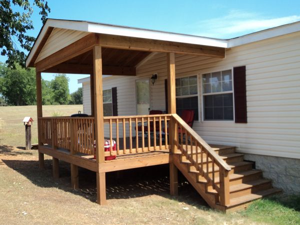 Deck With A Vaulted Roof Mobile Home Porch Manufactured Home Porch Porch Design