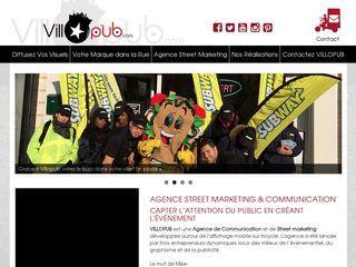 Villopub.com une société qui propose pour ses clients des services de Street marketing, distribution de flyers et de prospectus etc. Un concept simple, mais tellement efficace pour être vu et pour attirer l'attention des clients.