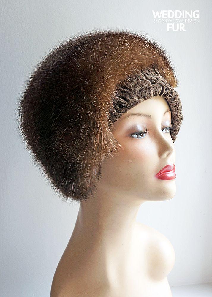 Женские меховые шапки из соболя