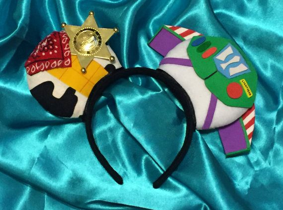 Sheriff and Spaceman Combo Mouse Ears Headband