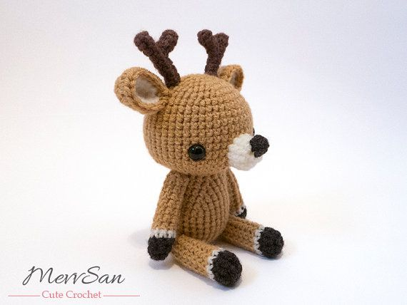 Crochet PATTERN PDF - Amigurumi Woodland Critter Deer- crochet animal pattern, amigurumi deer pattern, deer plush, cute crochet deer toy