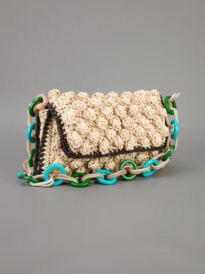 M MISSONI knitted clutch