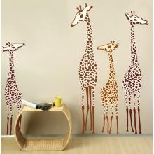 adorable giraffe wall decals for kids - safari or africa theme kids room