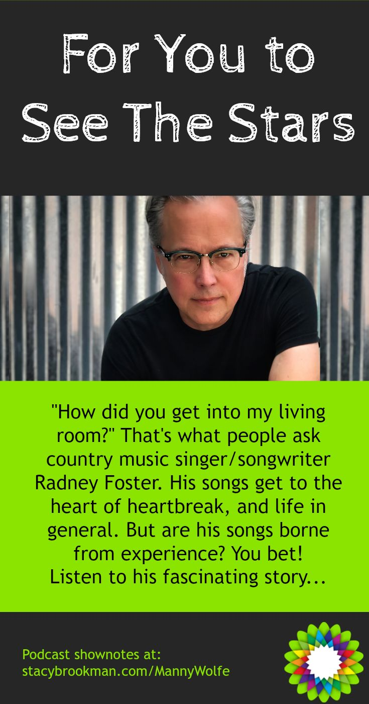 """How did you get into my living room?"" That's what people ask country music singer/songwriter Radney Foster. His songs get to the heart of heartbreak, and life in general. But are his songs borne from experience? You bet! via @Stacy_Brookman"