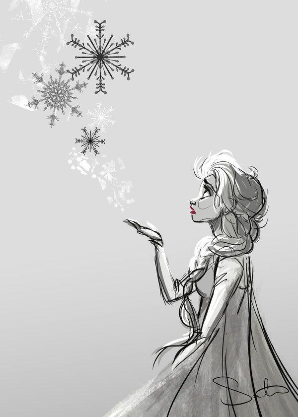 Elsa and Snowflakes
