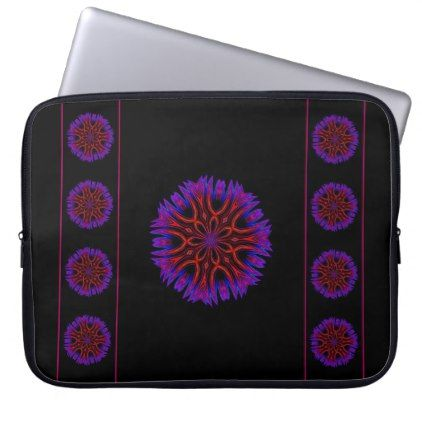 #Abstract Floral Orange Laptop Sleeve - #flower gifts floral flowers diy