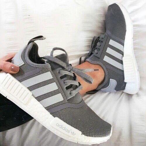 Gray adidas.