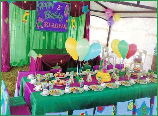Barney Party Table Setting Barney Themed Birthday