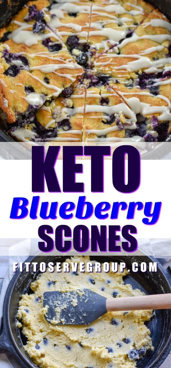 Keto Blueberry Scones are the perfect little treat. These low carb blueberry sco…