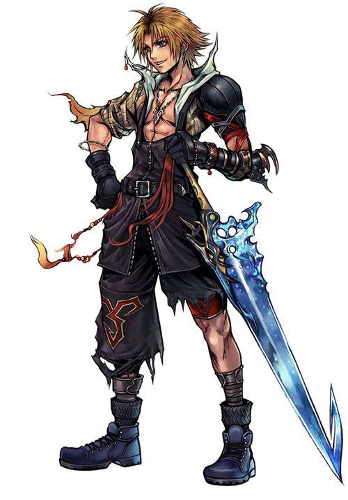 Tidus Character Concept Art - Dissidia : Final Fantasy (PSP)