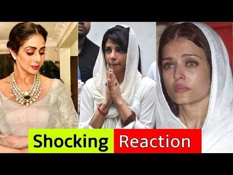 Sridevi Died With Heart Attack   Bollywood Stars Shocking Reaction For S...