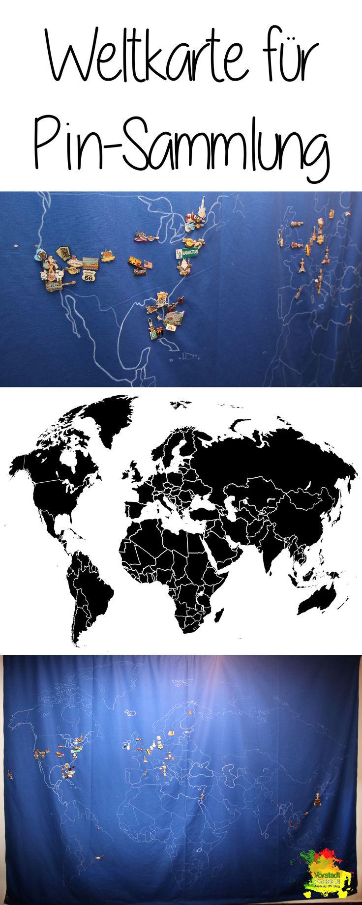 Weltkarte Aus Stoff Für Reise Pin Sammlung, Größe Der Länder Manipuliert  Mit Photoshop