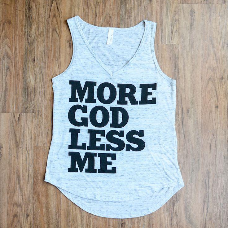More God Less Me Tank (Marble)