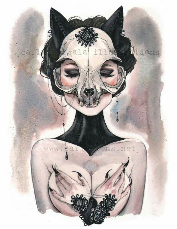 Skull Masquerade By Carla Wyzgala Illustrations