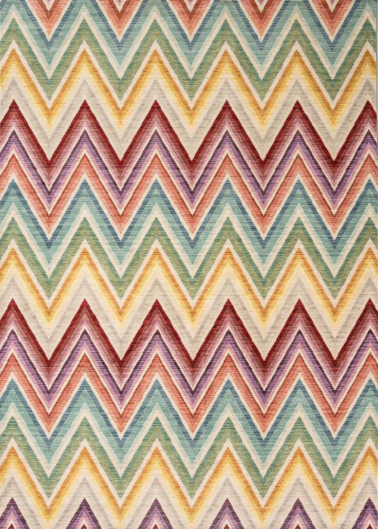 A Vibrant Zigzag Design Using Mulude Of Colours And Rous Sheen Homedesign