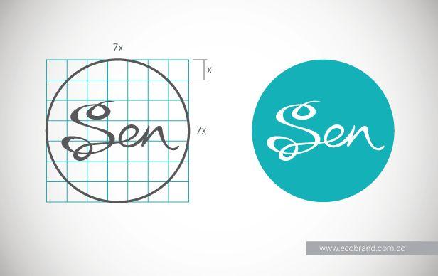 Alimentos orgánicos, comercio justo y producción sostenible, representados por un #logotipo que con sus curvas evoca el carácter femenino de la #marca SEN.