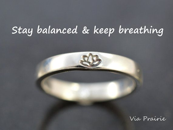 Lotus ring Lotus flower ring Yoga ring Zen ring Yoga by ViaPrairie