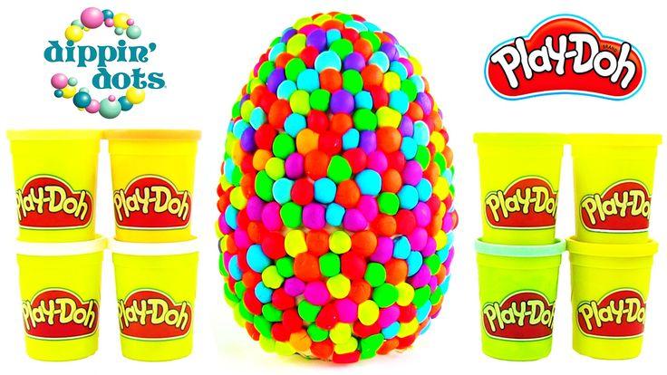 Oyun Hamuru DEV Sürpriz Yumurta Açma Play Doh Dippin Dots Oyuncak Paketleri