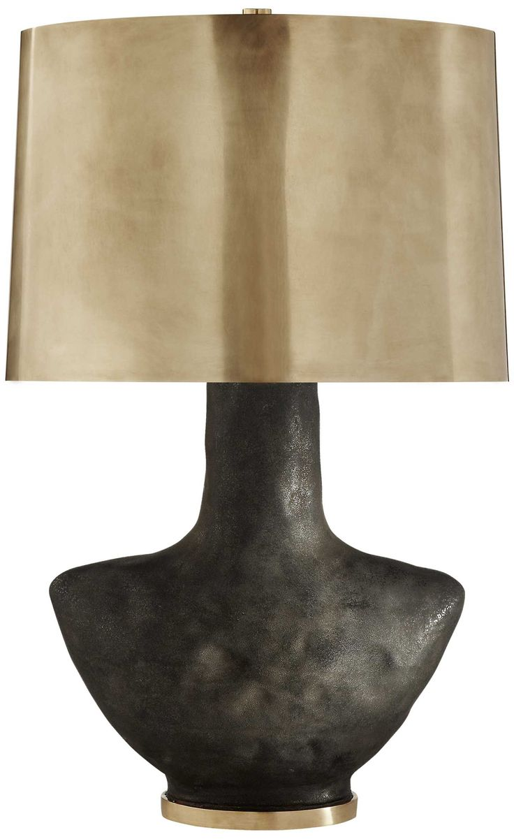 KELLY WEARSTLER | ARMATO TABLE LAMP. Stained Black with Brass