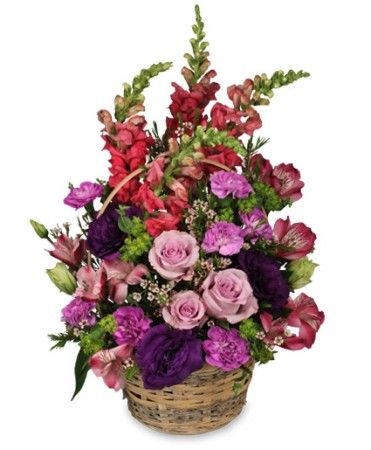 Home Sweet Home Flower Basket | Basket Arrangements | Flower Shop Network