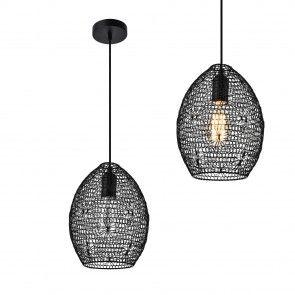 [lux.pro] Dekoratív függőlámpa / Függeszték / Lámpa - fekete design