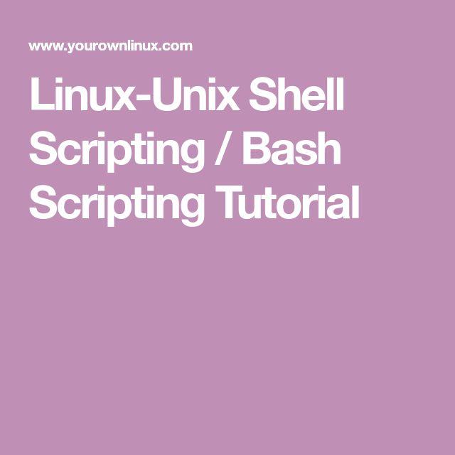 Linux-Unix Shell Scripting / Bash Scripting Tutorial | Linux