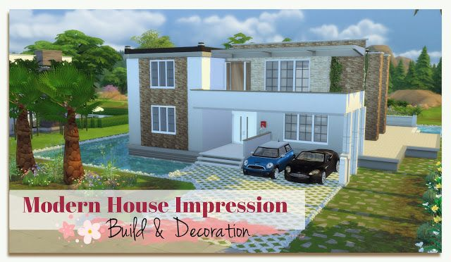 Sims 4 - Building on Newcrest Modern House - Impression