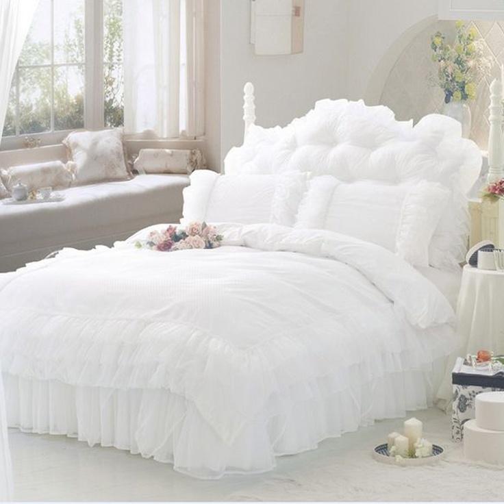 $179.90 white lace bedding - http://zzkko.com/book/shopping?note=16370