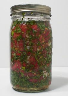 Fermented Cilantro Salsa for Chelation: nourishing traditions