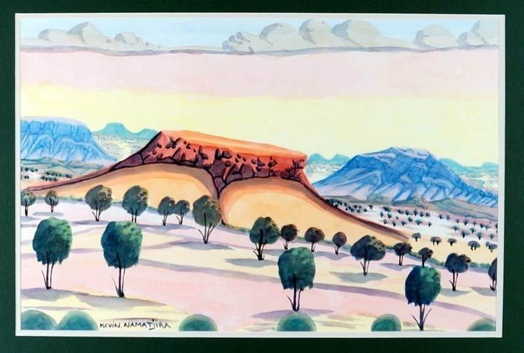 KEVIN NAMATJIRA (c.1958 - ), LARGE Original Hermannsburg Watercolour -