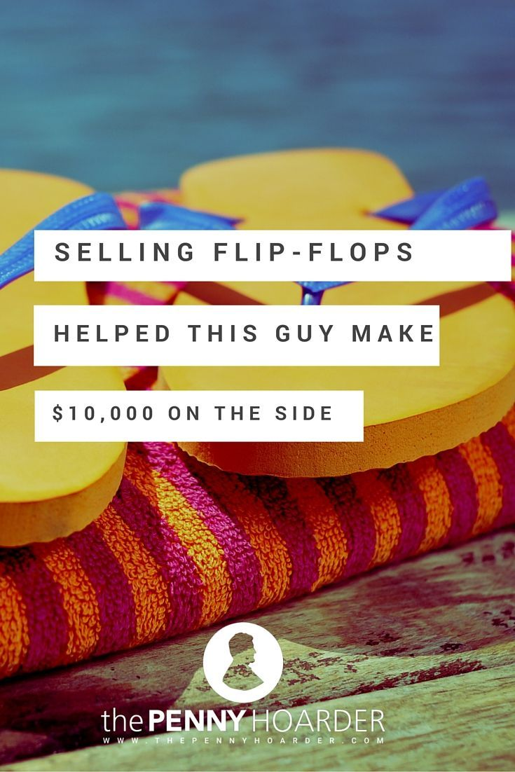 I was recently surprised by a friend's admission: He's made $10,000 on Amazon this year — selling flip-flops. - The Penny Hoarder http://www.thepennyhoarder.com/how-to-sell-on-amazon-flip-flops/ make money from home, ways to make money at home