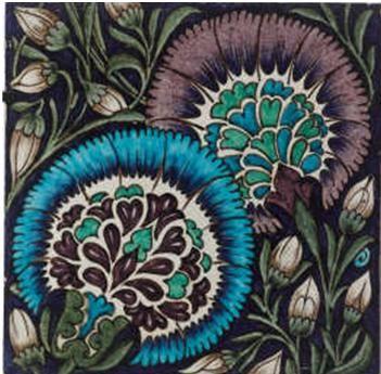venusmilk:    William De Morgan  Persian Tile 19th c.