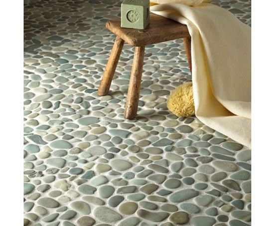 Peppermint pebble mosaic tiles originate from Indonesia. Price:£3.59 per piece.£42.49 per m2. Free samples are available.