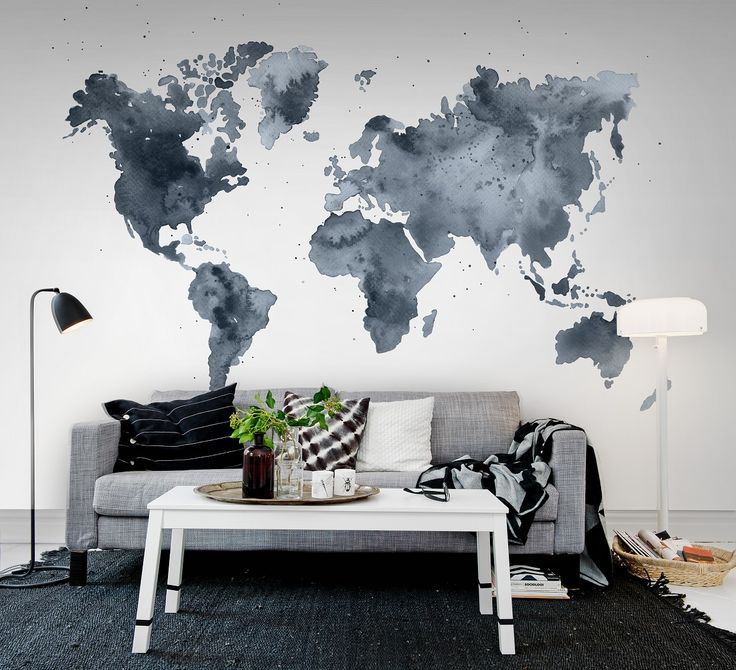 31 best wereldkaarten en plattegronden als behang maps as wallpaper images on pinterest - Decoratie wallpaper eetkamer ...