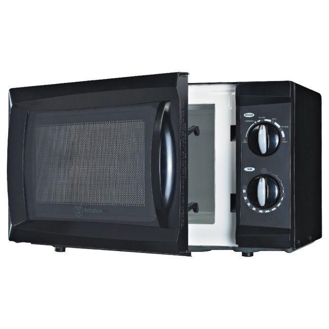 Westinghouse 0.6 Cubic Feet Black Microwave, Size mapped (Plastic)