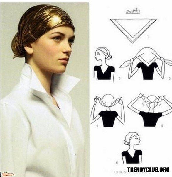 Варианты повязать шарфы и платки. . Как завязать платок, шарф?