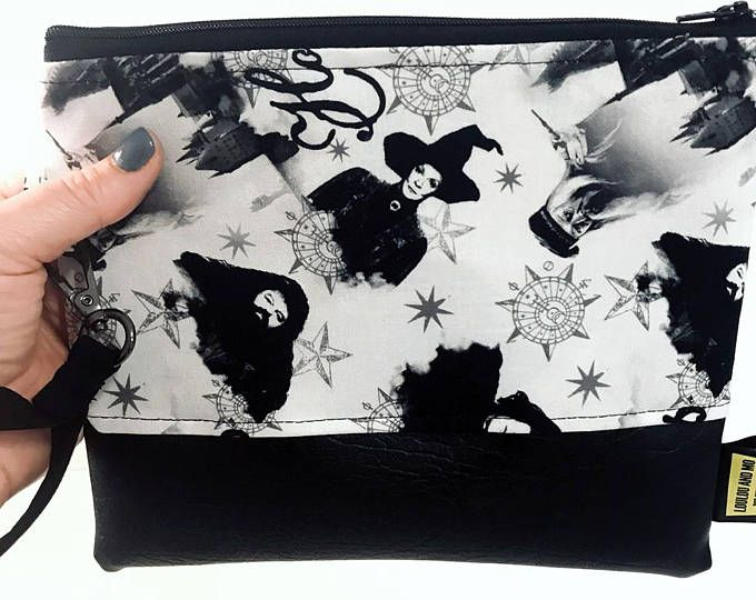 Clutch bag wristlet,  Harry Potter Fabric, gift for her, bags and purses, clutch bag, clutch purse, accessories, girlfriend gift