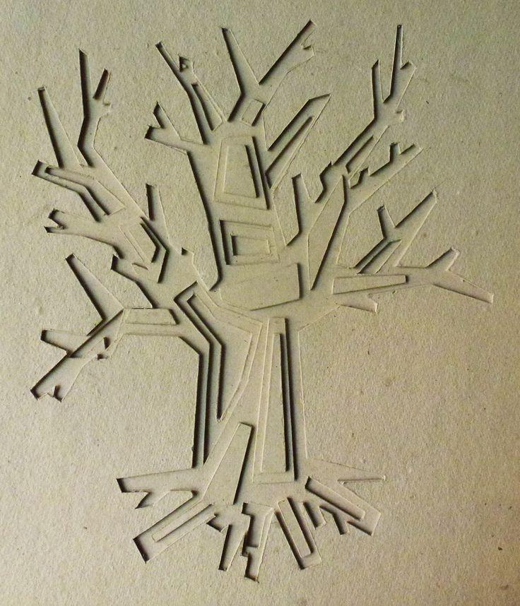 Reliéf - kompozícia z papiera