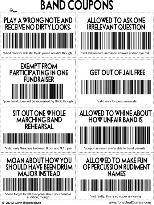 Our band needs these.