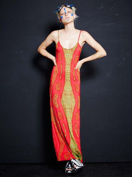 DESERT DESIGNS - D.N.A Space Dress - Maxi Dress - Original Artwork - Jimmy Pike - Digital Print - Aboriginal Artist  $189.90