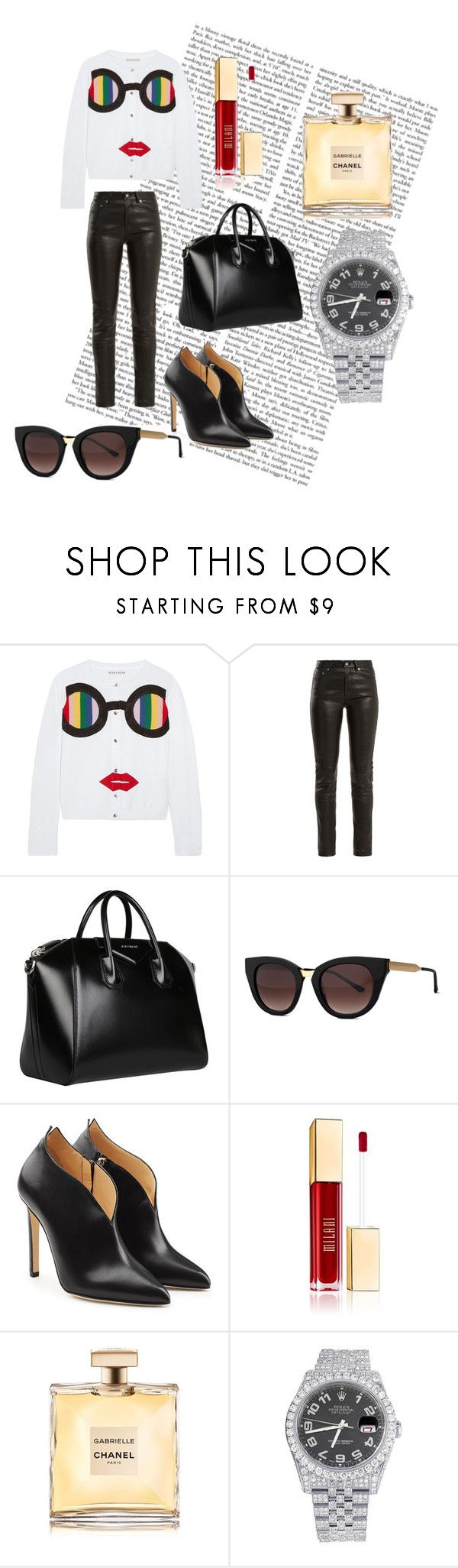 """""""#PolyPresents: Wish List"""" by christine-at ❤ liked on Polyvore featuring Alice + Olivia, Yves Saint Laurent, Givenchy, Thierry Lasry, Chloe Gosselin, Rolex, contestentry and polyPresents"""