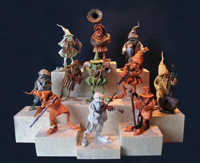 Eric Joisel 's origami orchestra