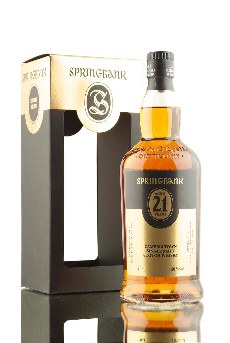 The 2017 release of the ever popular Springbank 21 year old. This year's release has been created using a combination of whisky matured in bourbon, sherry, Port & rum casks! 3,800 bottles released for the 2017 bottling, filled at 46% vol and presented in shiny gold attire.