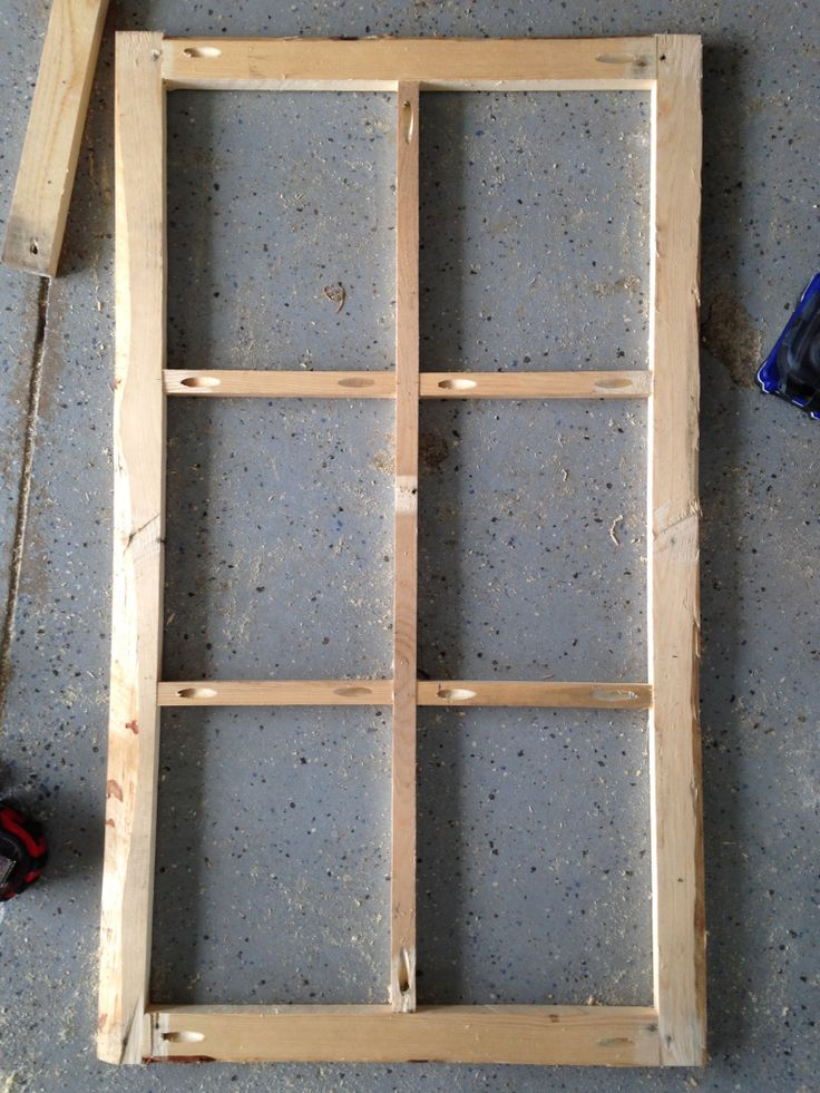 how to build wooden window frame   Old Antique Window Frame; DIY From Scrap Wood   DIY at Needles and ...