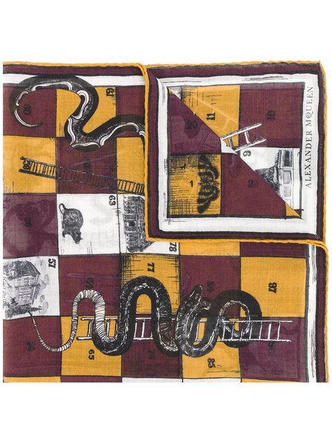 ALEXANDER MCQUEEN snakes and ladders scarf. #alexandermcqueen #scarf