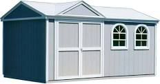 Handy Home Products Somerset Storage Building Kit with Floor - (10 Ft. x 14 Ft.)