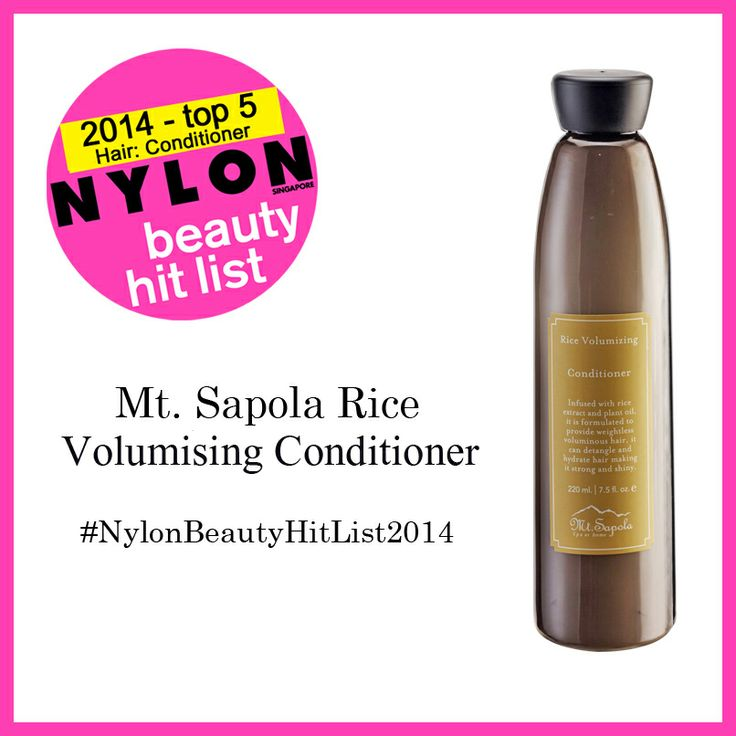 Our Mt. Sapola Rice Volumizing Conditioner is Top 5 in Nylon Beauty Hit List! This conditioner contains active rice protein, which has natural weightless strengthening and volumizing properties to create a noticeably thicker, more luxurious overall look from root to tip!  夢詩格拉大米豐盈護髮乳榮獲Nylon-新加坡頭髮護髮乳的前5強!它含有大量天然成份和活性蛋白質,能滋潤頭髮,細心護理受到化學傷害的頭髮,可以溫和去除頭皮角質、油脂,維持頭皮PH值正常。讓您擁有濃密順滑的秀髮。
