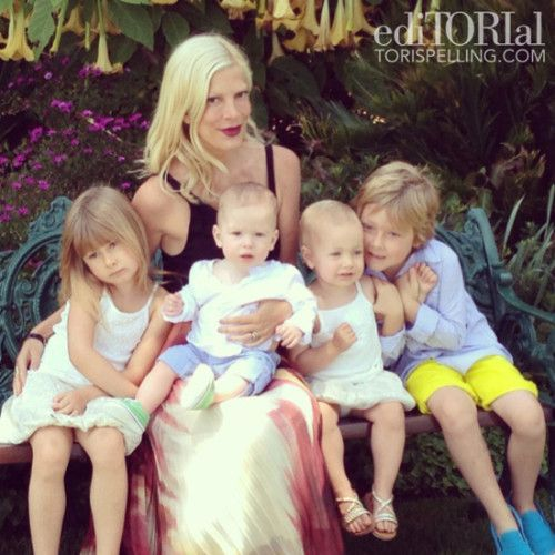 Tori Spelling: The Kids Are Protective Of Each Other